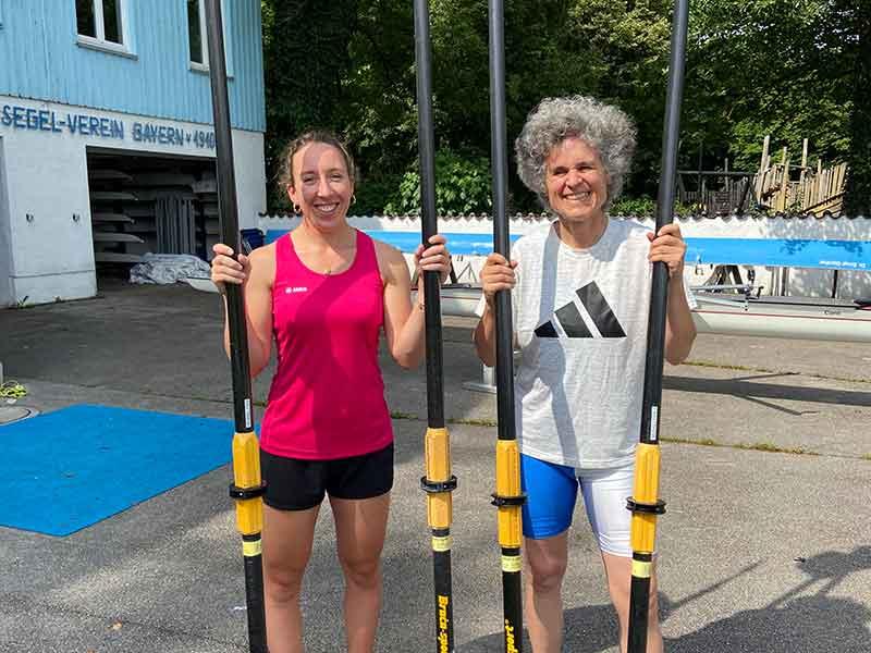 Kira Weidle und Miriam Vogt